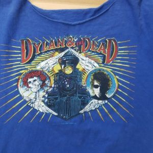 Band Tee Tops - Dylan and the Dead Bob Dylan Band Shirt Vintage
